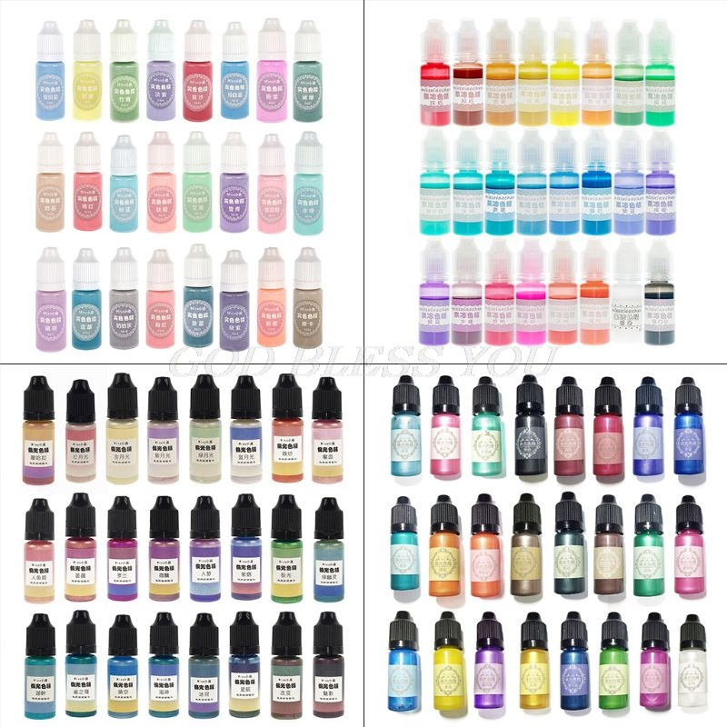 24 Pcs/set Crystal Epoxy Pigment UV Resin Dye DIY Jewelry Art Crafts Colorant Pigment