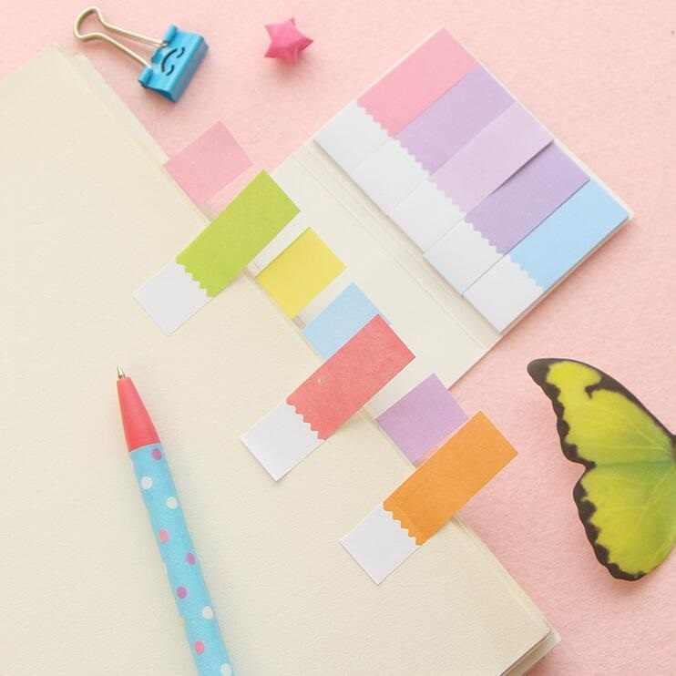 1 אריזות\מארז קשת צבע קטן טרי דו צדדי דביק הערות N פעמים מדבקות משרד ובית הספר Suppiles