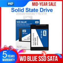 """ويسترن ديجيتال WD بلو SSD 500gb interne الحالة الصلبة Disque 500 GB   SATA 6 Gbit/s 2.5 """"WD الأزرق ثلاثية الأبعاد NAND SATA SSD WDS500G2B0A"""