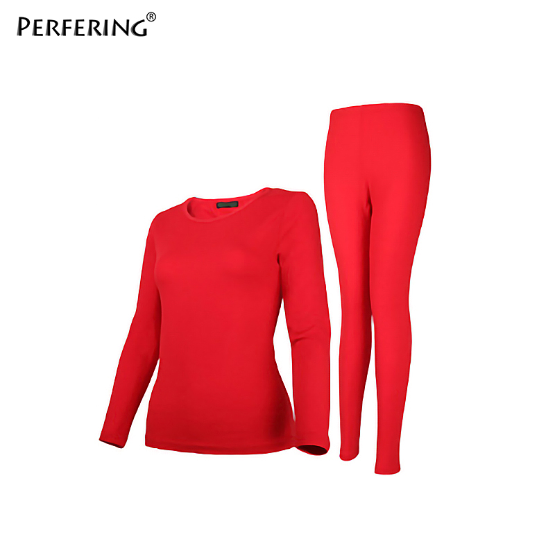 Perfering 2 Piece Plus Size 6XL Thermal Underwear Women Winter Clothes Warm Suit Long Johns Women Large Size 2XL 3XL 4XL 5XL