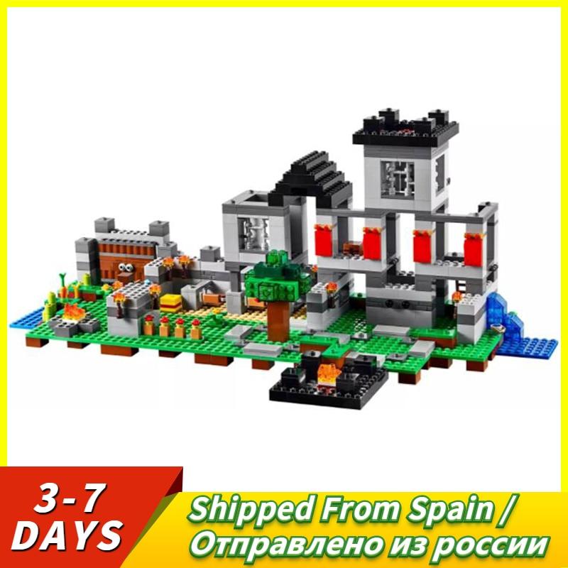 Minecraft Series The Fortress Figure Block Set Model 990Pcs Steven Sword Skeletons Toy For Kids Compatible