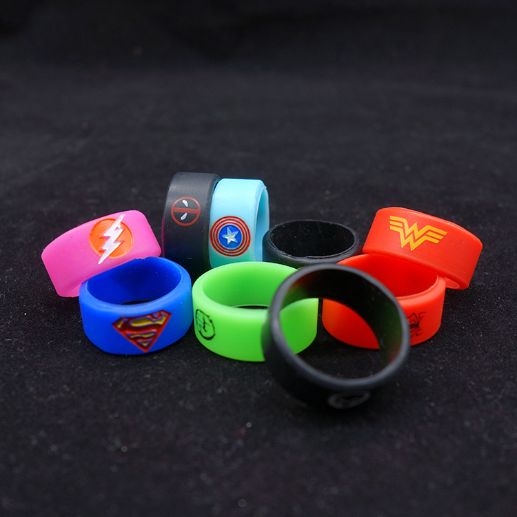 1pcs Vape Band Silicone Rubber Vape Ring Decoratieve Band Voor Mechanische Mod 18650 22mm Rda Rta DIY Verstuiver