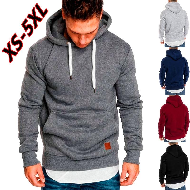 Mountainskin Mens Hoodies Solid Spring Autumn Hooded Coat Men Hip Hop Sweatshirt Casual Slim Sportswear Tracksuit SA684 Full