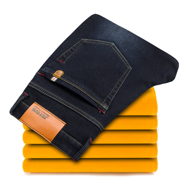 New Winter Insulated Denim Jeans 2
