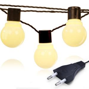 Image 3 - Edison LED lampa ogrodowa łańcuchy świetlne 5M 10M 220V Patio na świeżym powietrzu Yard krajobraz ślub dekoracje świąteczne
