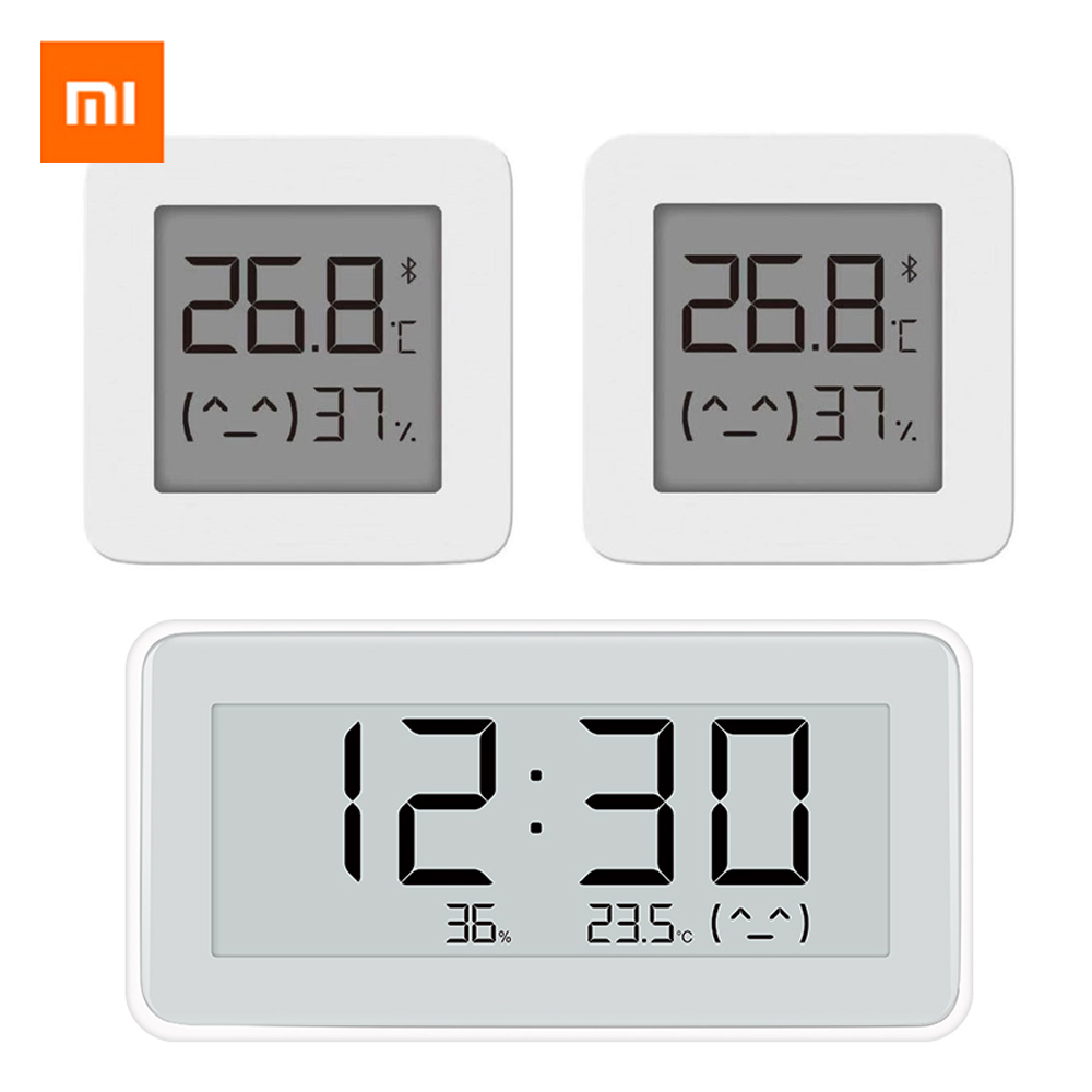100% Xiaomi Mijia Wireless Smart Electric Digital Clock Indoor And Outdoor Hygrometer Thermometer LCD Temperature Measuring Tool