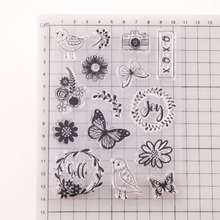 Butterfly Bird Transparent Clear Silicone Stamp/seal for DIY Scrapbooking/ Album Decorative Stamp Sheets