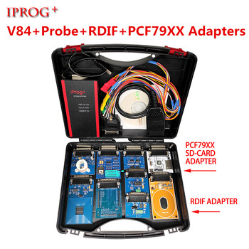 Newest V84 V83 Iprog+ Pro with Probe Adapters For in-circuit ECU Programmer & Mileage Correction + Airbag Reset +IMMO+EEPROM