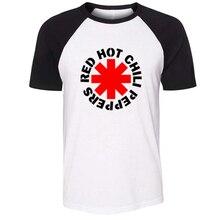 iDzn Unisex Summer T-shirt Red Hot Chili Peppers Rock Band Antony Flea John Chad Pattern Short Sleeve Men T shirt sport Tee Tops