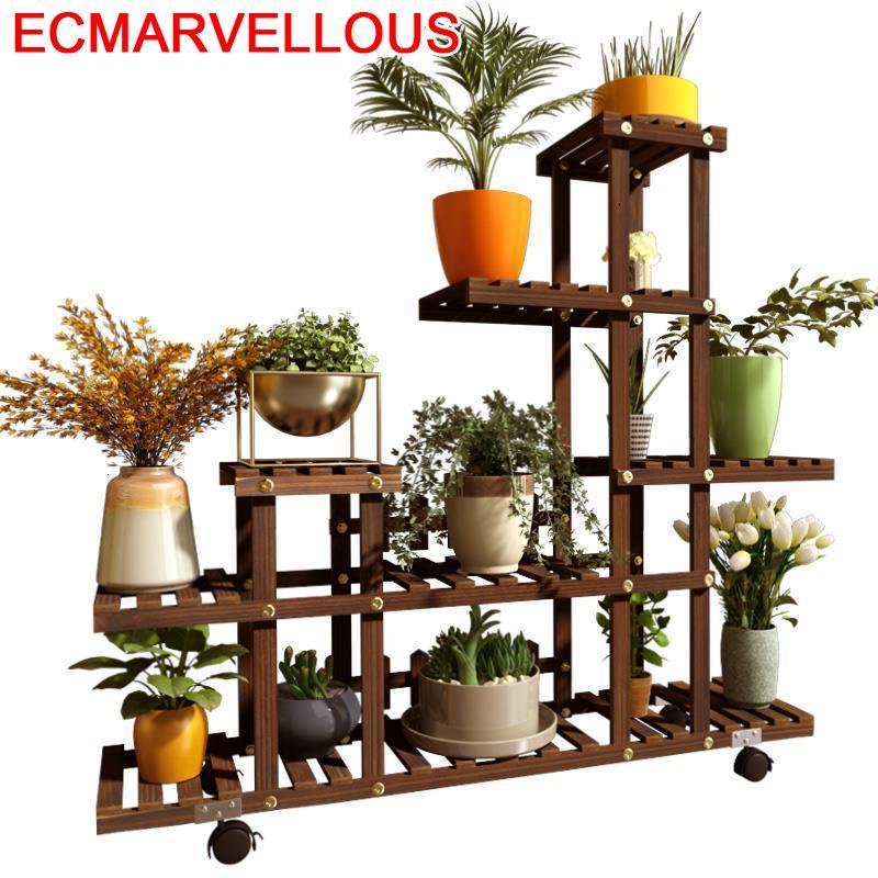 Escalera Plantenrekken Ladder Scaffale Porta Piante Outdoor Balcony Flower Shelf Stojak Na Kwiaty Dekoration Plant Stand