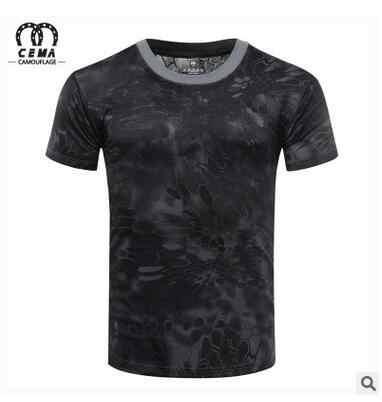 Frete grátis. camisa de secagem rápida de verão masculina, camisas de poliéster. venda marca manga curta homem camuflagem