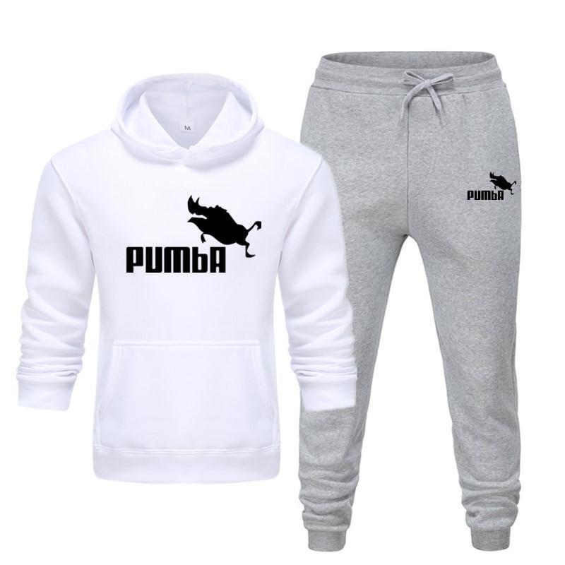 New Pumba Two Pieces Hoodie Batman Hooded Men Casual Cotton Fall / Winter Warm Sweatshirts Men's Casual Tracksuit Costume S-XXXL 2