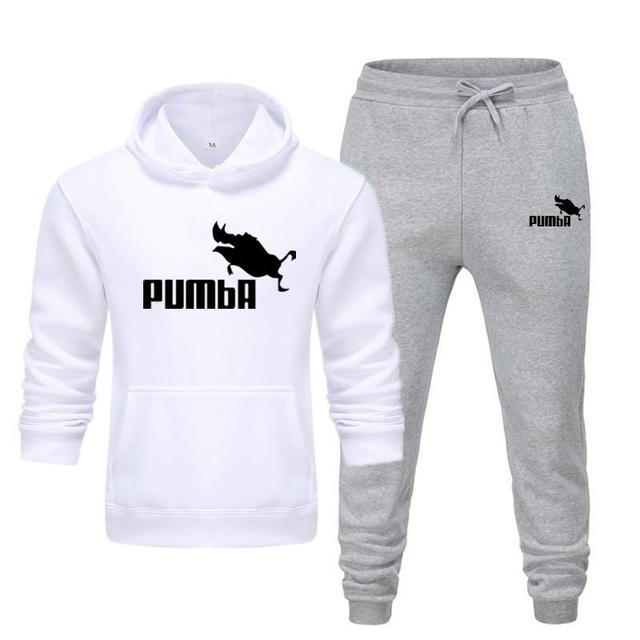 New Pumba Two Pieces Hoodie Batman Hooded Men Casual Cotton Fall / Winter Warm Sweatshirts Men's Casual Tracksuit Costume S-XXXL 2