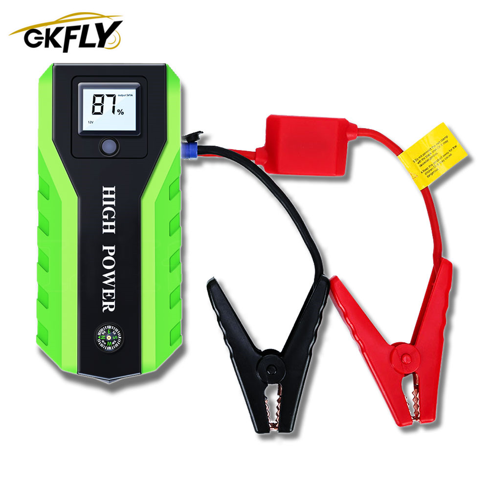 GKFLY Multi-Function 20000mAh 12V Starting Device 1000A Car Jump Starter Power Bank Car Charger For Car Battery Booster Buster