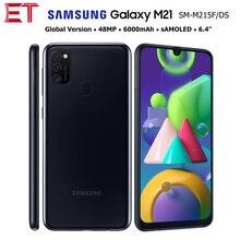 Samsung galaxy m21 m215f/dsn versão global 4g celular 4gb 64gb octacore 6.4