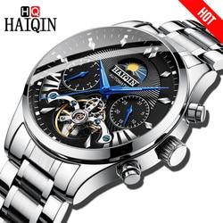 HAIQIN hombres relojes de marca superior automático de lujo/mecánico/reloj de lujo para hombre reloj deportivo reloj de pulsera para hombre tourbillon