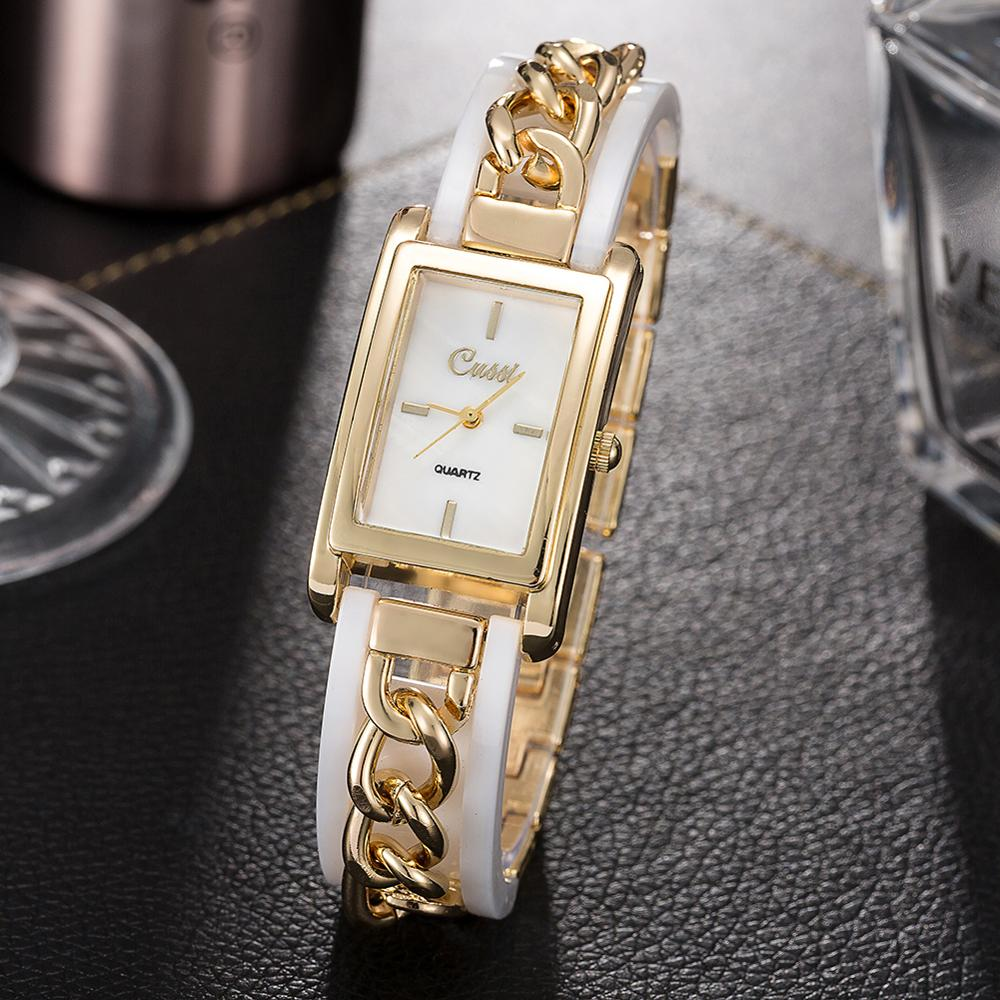 Fashioin Squart Watches For Women Chain Watch Band Gold Watches Ladies Quartz Watches Montre Femme 2019