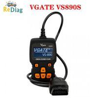 최신 유니버설 vgate vs890 vs890s obd 2 엔진 오류 코드 리더 분석기 VS-890S vs 890 obdii 자동차 진단 스캐너 도구