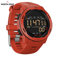 NORTH EDGE-reloj Digital Mars para hombre, cronómetro resistente al agua hasta 50M, con alarma por hora y Contador de calorías