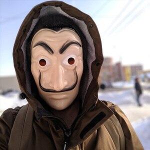 Salvador Dali Mask Movie The House of Paper La Casa De Papel Cosplay Accessories Halloween Masks Money Heist Costume(China)