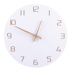 Nordic 3D Wooden Large Wall Clock Modern Design Home Decor Bedroom Silent oclock Nixie Watch Wall Kids Clock For Children Room(China)