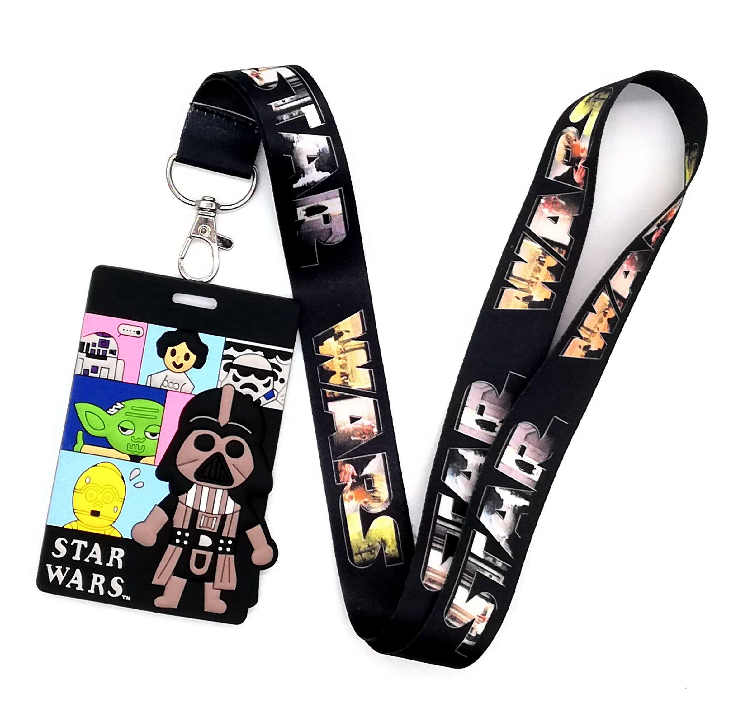 Hot 1 Pcs Cartoon Star Wars   Lanyard Key Lanyard Cosplay Badge ID Cards Holders Neck Straps Keyrchains