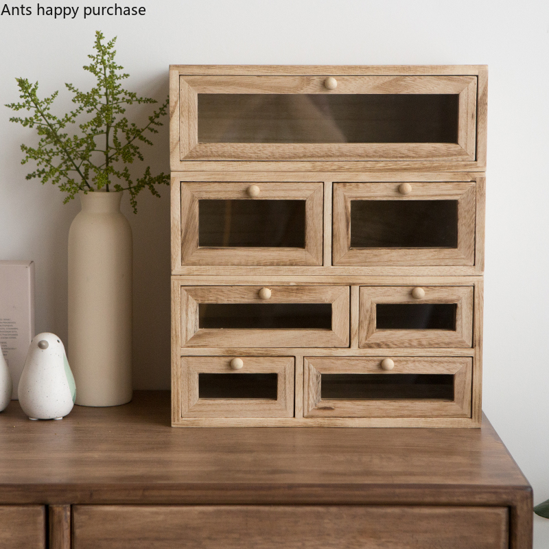 Твердая древесина прямоугольник рабочего Косметическая хранения ящик выдвижного типа офиса ящик для мелочей ювелирные изделия Многослойные шкаф с отделкой для дома|Ящики и баки для хранения|   | АлиЭкспресс - Хранение украшений
