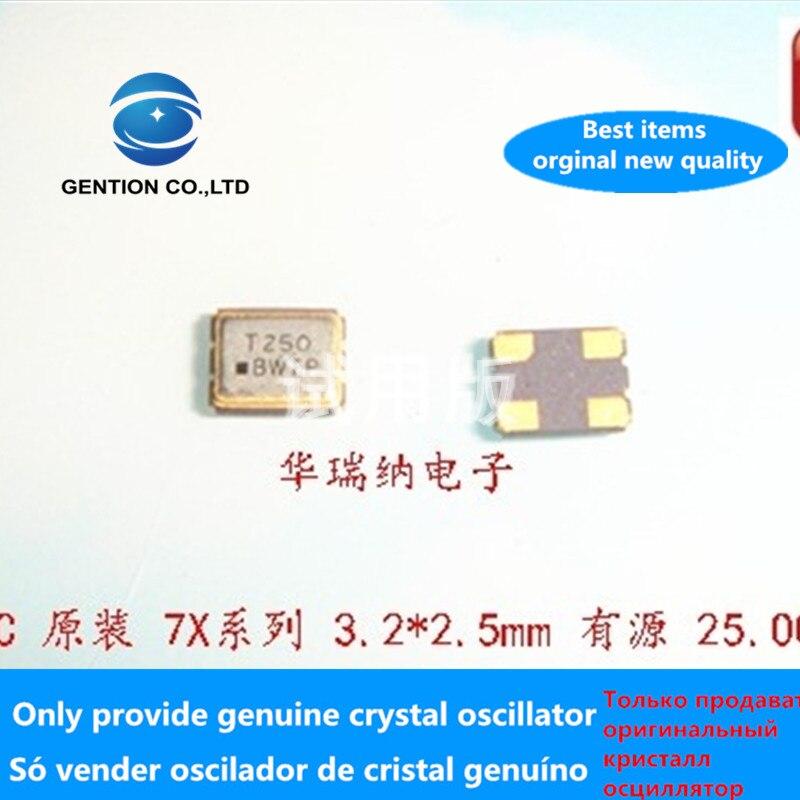 5pcs 100% Orginal New TXC Active SMD Crystal 3225 7X25000010 15PF 25M 25MHZ 25.000MHZ