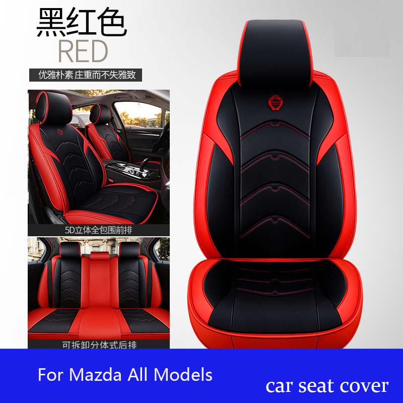 leather Universal car <font><b>seat</b></font> <font><b>cover</b></font> for <font><b>Mazda</b></font> All Models CX5 CX7 <font><b>CX9</b></font> MX5 ATENZA <font><b>Mazda</b></font> 2 3 5 6 8 car styling image