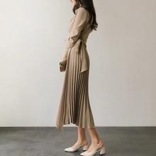 Long Pleated Dresses
