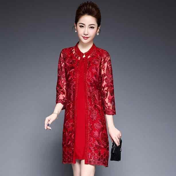 Женское элегантное винтажное платье с вышивкой, 2 предмета, одежда для вечеринок, бриллианты, большие размеры 6XL, DF538