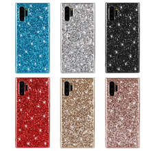 For Samsung Galaxy Note 10 Case Silicon Bling Glitter Crystal Sequins Soft TPU Cover Fundas for Pro Coque