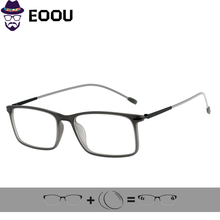 Square Women Men TR90 Design Myopia Goggles Glasses Frame Power Eyewear Prescription Lens цены онлайн