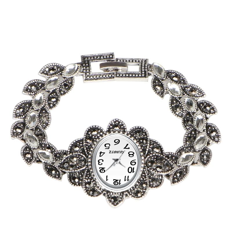QINGXIYA Antique Silver Bracelet Women Watches Luxury Brand 2019 Ladies Watch Fashion Dress Quartz Wristwatch Simple Style Reloj