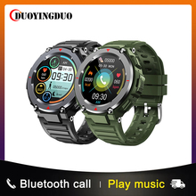"""1.28 """"toque completo esporte relógio inteligente para homem 400mah ip67 à prova dip67 água multi modos de esportes pulseira de fitness com chamada de controle de música"""
