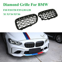 High Quality One Pair Diamond Kidney Grille Front Grille For Bmw F10 F18 F30 F35 G30 G38 X1 X3 X4 X5 X6 Car Tuning Racing Grills|Racing Grills| |  -