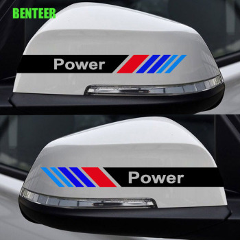 2pcs M Performance Car Rearview Mirror Sticker For BMW E34 E36 E60 E90 E46 E39 E70 F10 F20 F30 X5 X6 X1 M3 M5 E30 E39 E87 F30 image