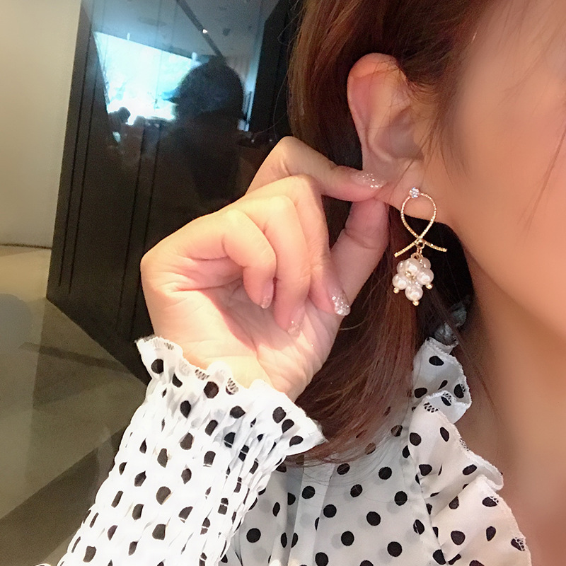 H82ff596f97a44398bf2bf1cff92124e5p - New Arrival Metal Classic Round Women Dangle Earrings Korean Fashion Circle Geometric Earrings Sweet Small Jewelry