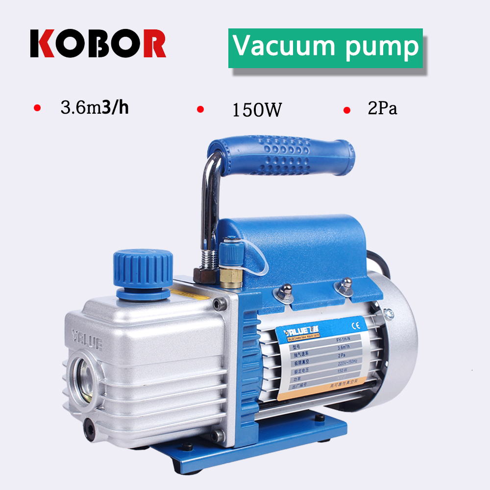 2019 New 1L Rotary Vane Single Stage Mini Vacuum Pump For Car Air Conditioning Repair Screen Separator