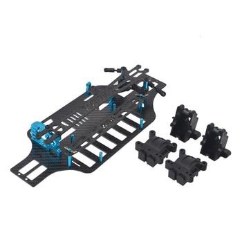 ma ar chassis modify parts set carbon fiber plates rollers mass damper for tamiya mini 4wd racing car model 2017 version 1/10 RC Car Carbon Fiber Frame Chassis Plate Set for Tamiya tt-01 TT01