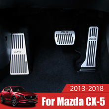 Car Accelerator Fuel Brake Pedal Footrest Pedals Plate Cover Pad For Mazda CX5 CX 5 CX 5 2012 2013 2014 2015 2016 2017 2018 2019