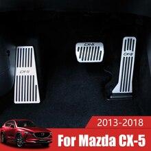Pedal de freno de combustible para acelerador de coche, reposapiés, cubierta de placa, almohadilla para Mazda CX5 CX 5 CX 5 2012 2013 2014 2015 2016 2017 2018 2019