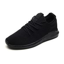Recommend Mens Shoes Breathable Casual Men Sneakers Lightweight Summer Black Mesh Soft Bottom
