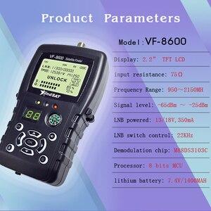 Image 2 - VF 8600 Satellite Finder For Satellite TV Receiver Satfinder With Compass sat Finder Full support DVB S/DVB S2/MPEG 2/MPEG 4
