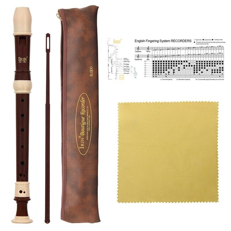 Irin Abs рекордер кларнет сопрано длинная флейта барокко рекордер Fingering музыкальный инструмент Аксессуары для начинающих