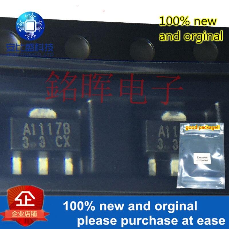 10pcs 100% New And Orginal CJA1117B-3.3 SOT89 3.3V 1A LOW DROPOUT LINEAR REGULATORin Stock