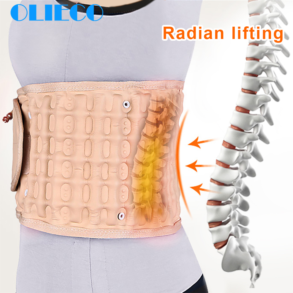 Waist Air Traction Brace Belt Spinal lumbar Support Back Relief Belt Backach Pain Release Massager Unisex Physio Decompression(China)
