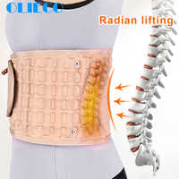 Waist Air Traction Brace Belt Spinal lumbar Support Back Relief Belt Backach Pain Release Massager Unisex Physio Decompression