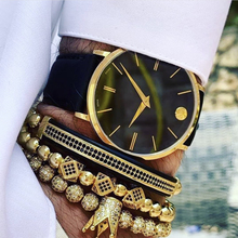 Mcllroy Crown Bracelet Men Charms Luxury Gold Macrame Beads Bracelets For Women Pulseira Masculina Braided Mens Bracelets 2018 цена в Москве и Питере