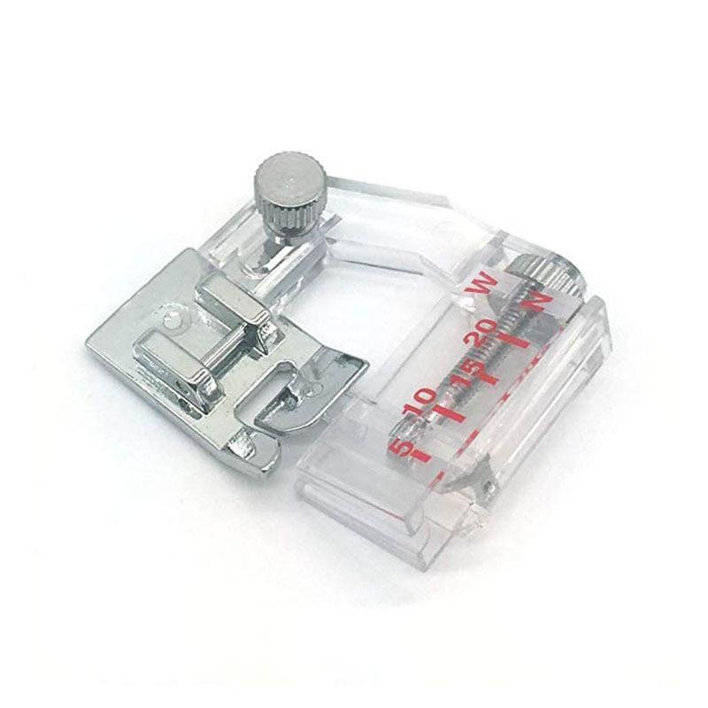1pcs 6290 Sewing Machine Presser Wrapped Edge Presser Foot Bag Strip Multi-function Adjustable Width Household DIY(China)
